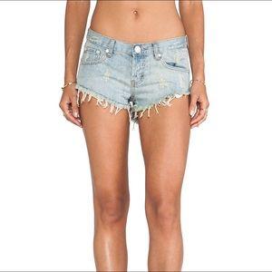 NWT One Teaspoon Bonita Shorts in Dirt